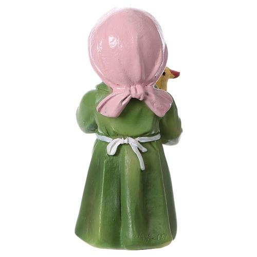 Statuina pastorella con papera per presepi 9 cm linea bambino 4