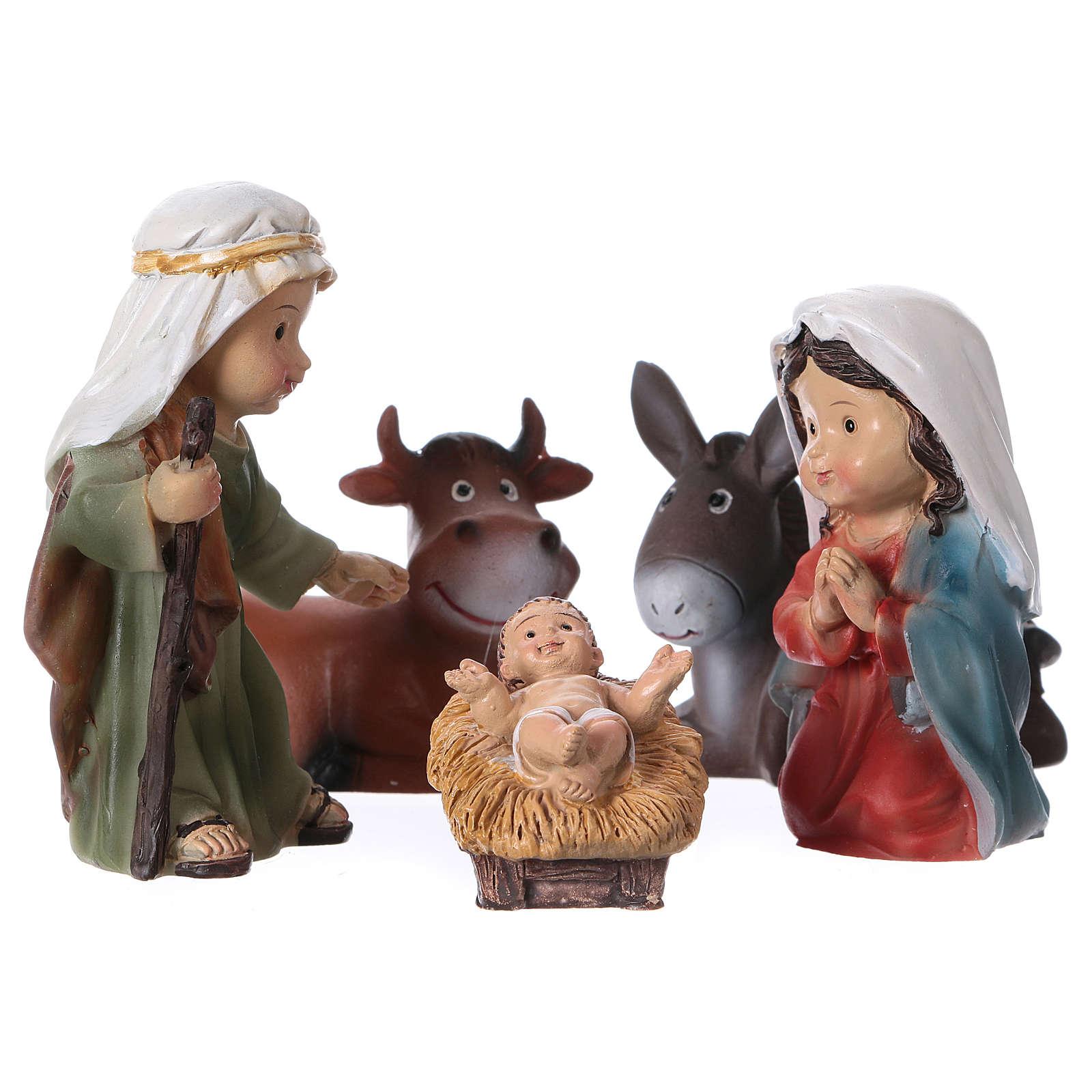 Estatuas Natividad 5 piezas línea niño 9 cm 3