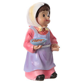 Woman farmer with corn for Nativity Scene 9 cm, children's line s3