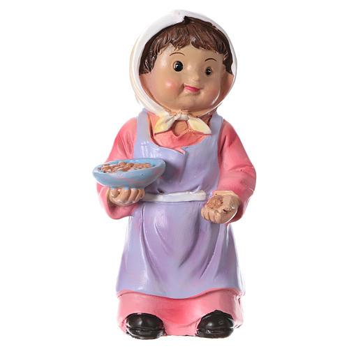Estatua campesina con trigo para belenes línea niño de 9 cm 1