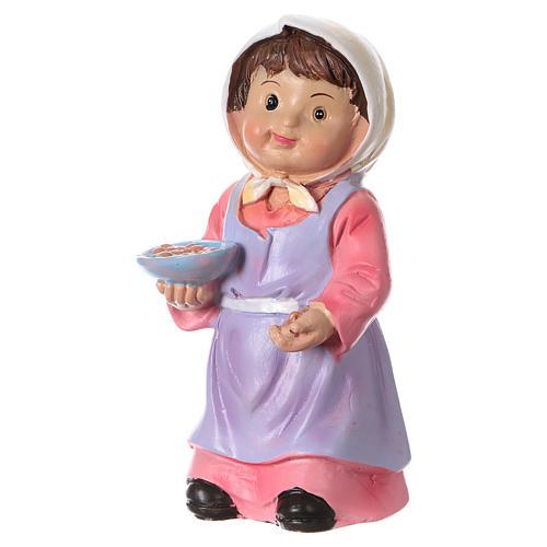 Estatua campesina con trigo para belenes línea niño de 9 cm 2