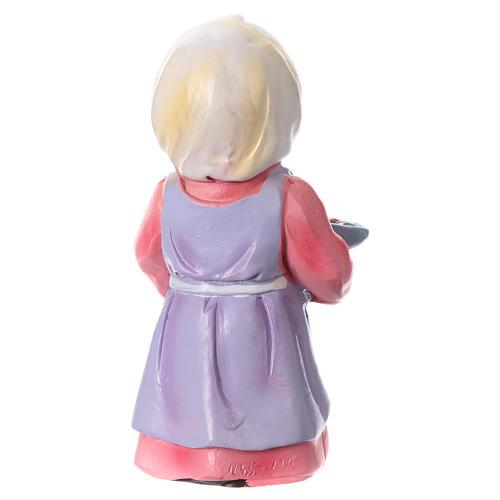 Estatua campesina con trigo para belenes línea niño de 9 cm 4