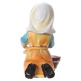 Santon lavandière pour crèche 9 cm gamme enfants s4