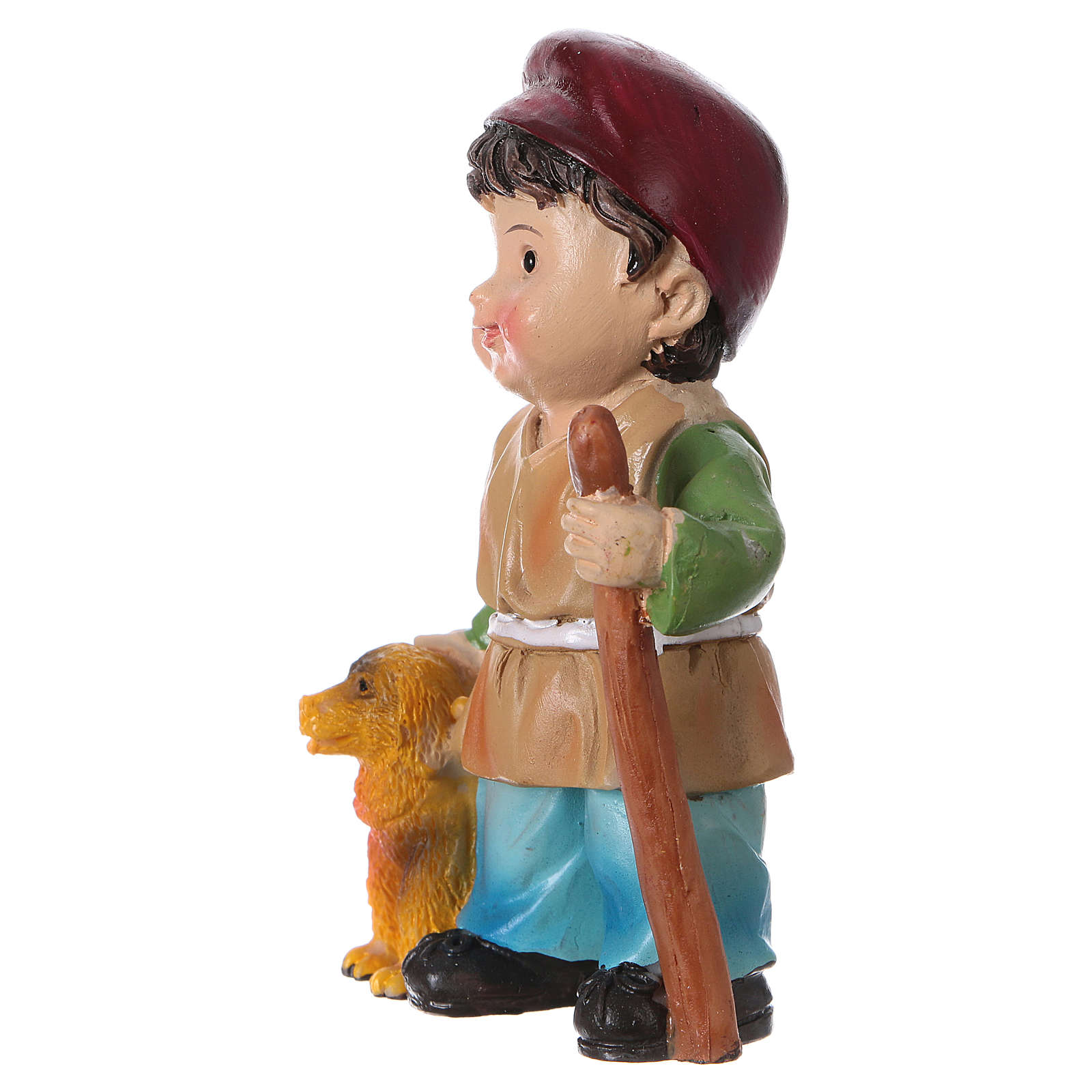 Shepherd with dog for Nativity Scene 9 cm, children's line 3