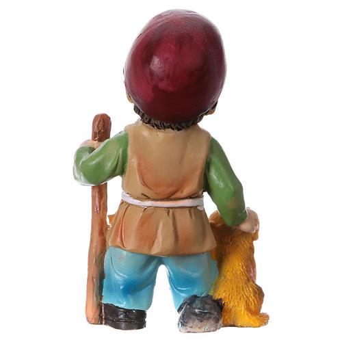 Statuina pastore con cane per presepi linea bambino 9 cm 4