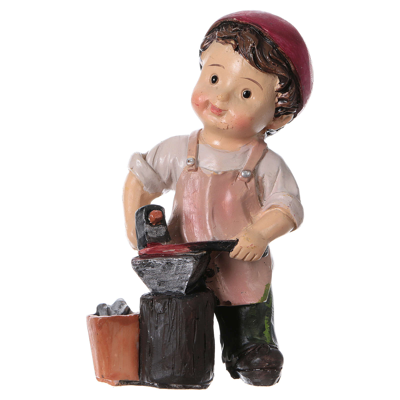 Estatua herrero línea niño 9 cm 3