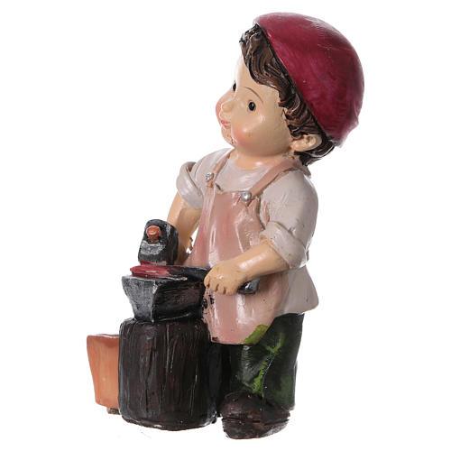 Santon forgeron pour crèche 9 cm gamme enfants 2