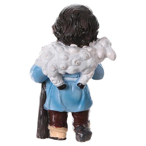 Statuina pastore con pecorella linea bambino presepi 9 cm 4