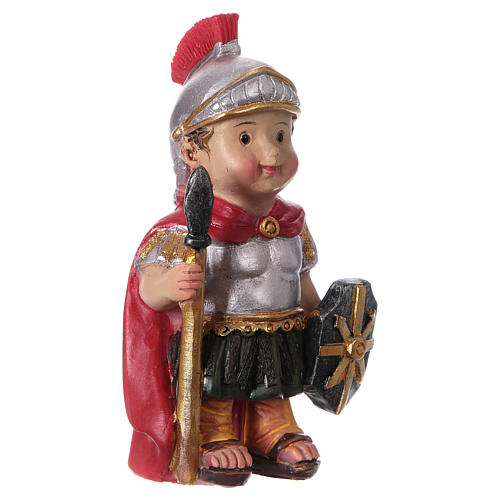 Estatua soldado romano belenes línea niño 9 cm 3