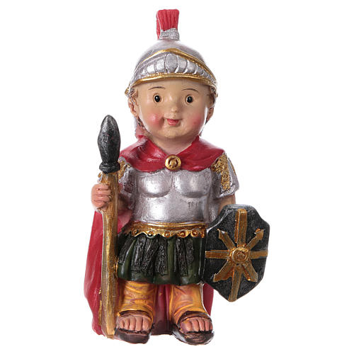Santon soldat romain gamme enfants crèche 9 cm 1