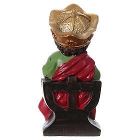 Estatua Rey Herodes para belenes 9 cm línea niño s4