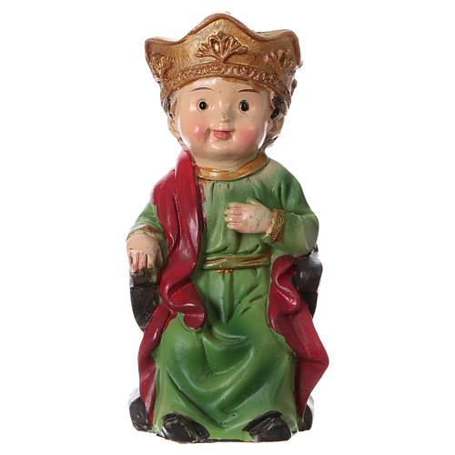 Estatua Rey Herodes para belenes 9 cm línea niño 1