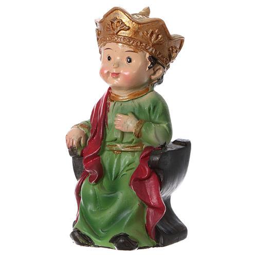 Estatua Rey Herodes para belenes 9 cm línea niño 2