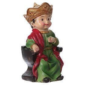 Statuina re Erode per presepi 9 cm linea bambino s3