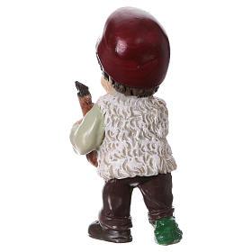 Estatua pastor con jamón para belenes línea niño 9 cm s4