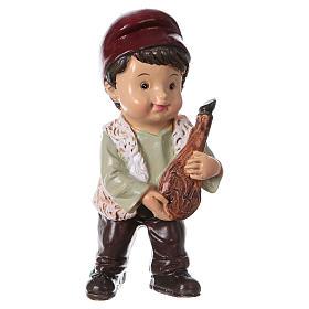 Statuina pastore con prosciutto per presepi linea bambino 9 cm s1