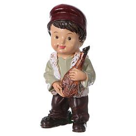 Statuina pastore con prosciutto per presepi linea bambino 9 cm s2