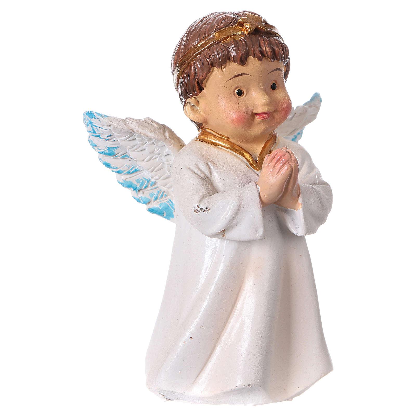 Estatua ángel que reza para belenes línea niño 9 cm 3