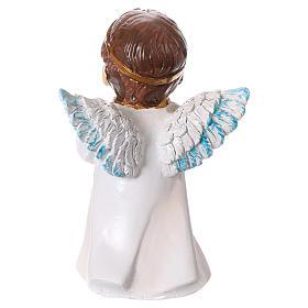 Estatua ángel que reza para belenes línea niño 9 cm s4
