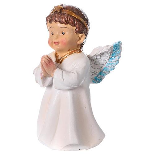 Estatua ángel que reza para belenes línea niño 9 cm 2