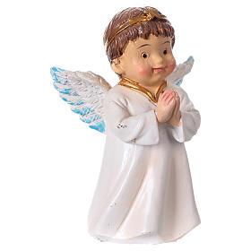 Statuina angelo in preghiera per presepi linea bambino 9 cm s3