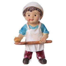 Figuras del Belén: Estatua panadero para belenes línea niño 9 cm
