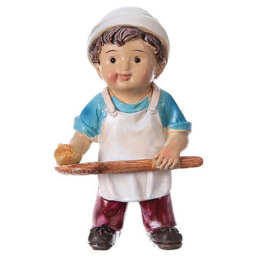 Estatua panadero para belenes línea niño 9 cm 1