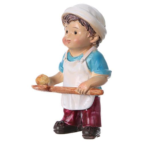 Estatua panadero para belenes línea niño 9 cm 2