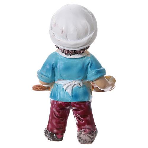 Estatua panadero para belenes línea niño 9 cm 4