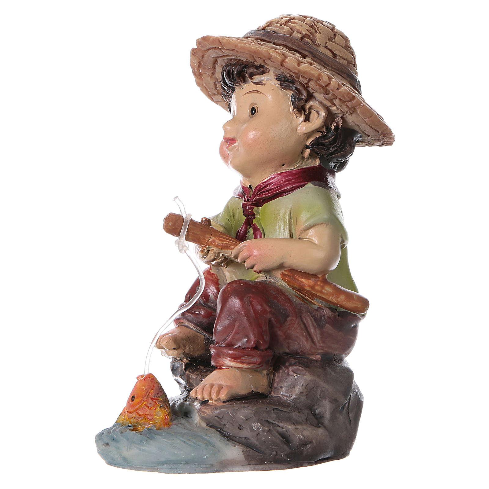 Estatua pescador para belenes de la línea niño de 9 cm 3