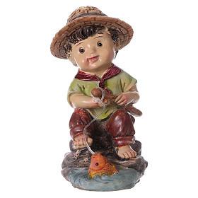 Figuras del Belén: Estatua pescador para belenes de la línea niño de 9 cm