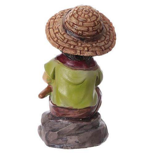 Estatua pescador para belenes de la línea niño de 9 cm 4