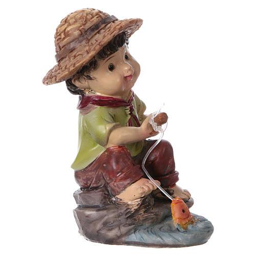 Statuina pescatore per presepi della linea bambino di 9 cm 3