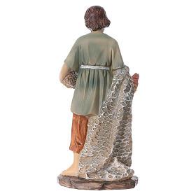 Statua pescatore resina per presepi 15 cm linea bambini s4