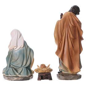 Holy Family in resin 6 pcs for Nativity scene 15 cm children's line s8