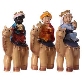 Tres Reyes Magos y camello 15 cm línea niños s1