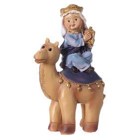 Tres Reyes Magos y camello 15 cm línea niños s2