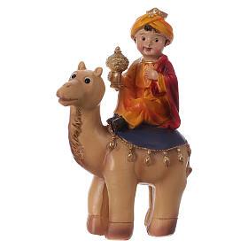 Tres Reyes Magos y camello 15 cm línea niños s3