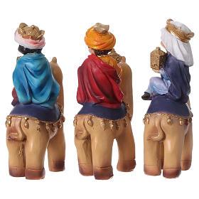 Tres Reyes Magos y camello 15 cm línea niños s5