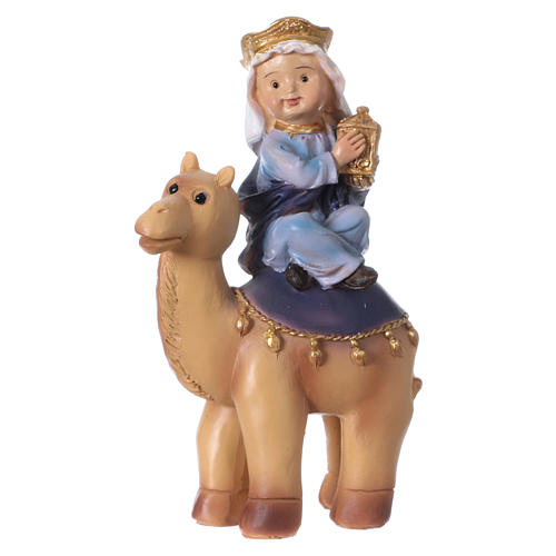 Tres Reyes Magos y camello 15 cm línea niños 2