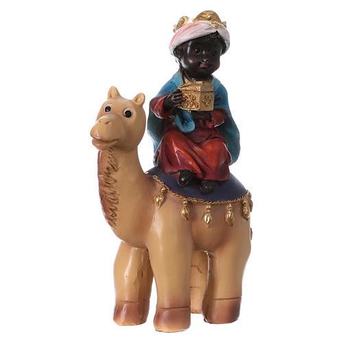 Tres Reyes Magos y camello 15 cm línea niños 4