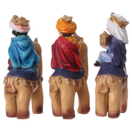 Tres Reyes Magos y camello 15 cm línea niños 5