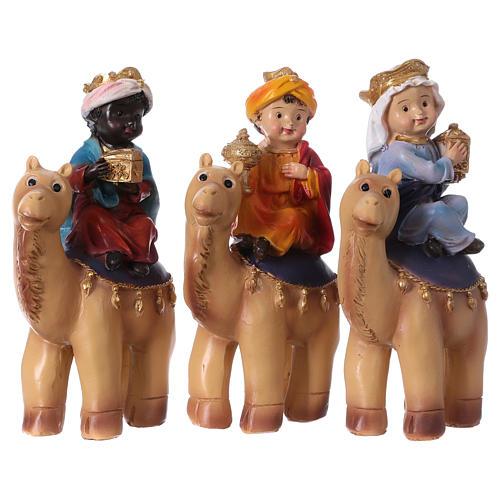 Trois Rois Mages sur chameaux 15 cm gamme pour enfants 1