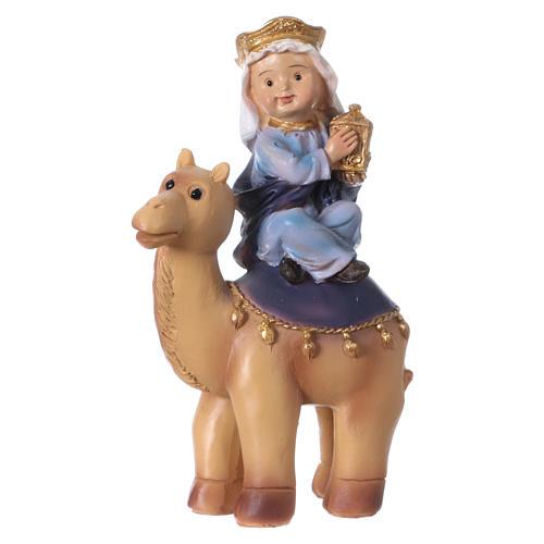 Trois Rois Mages sur chameaux 15 cm gamme pour enfants 2