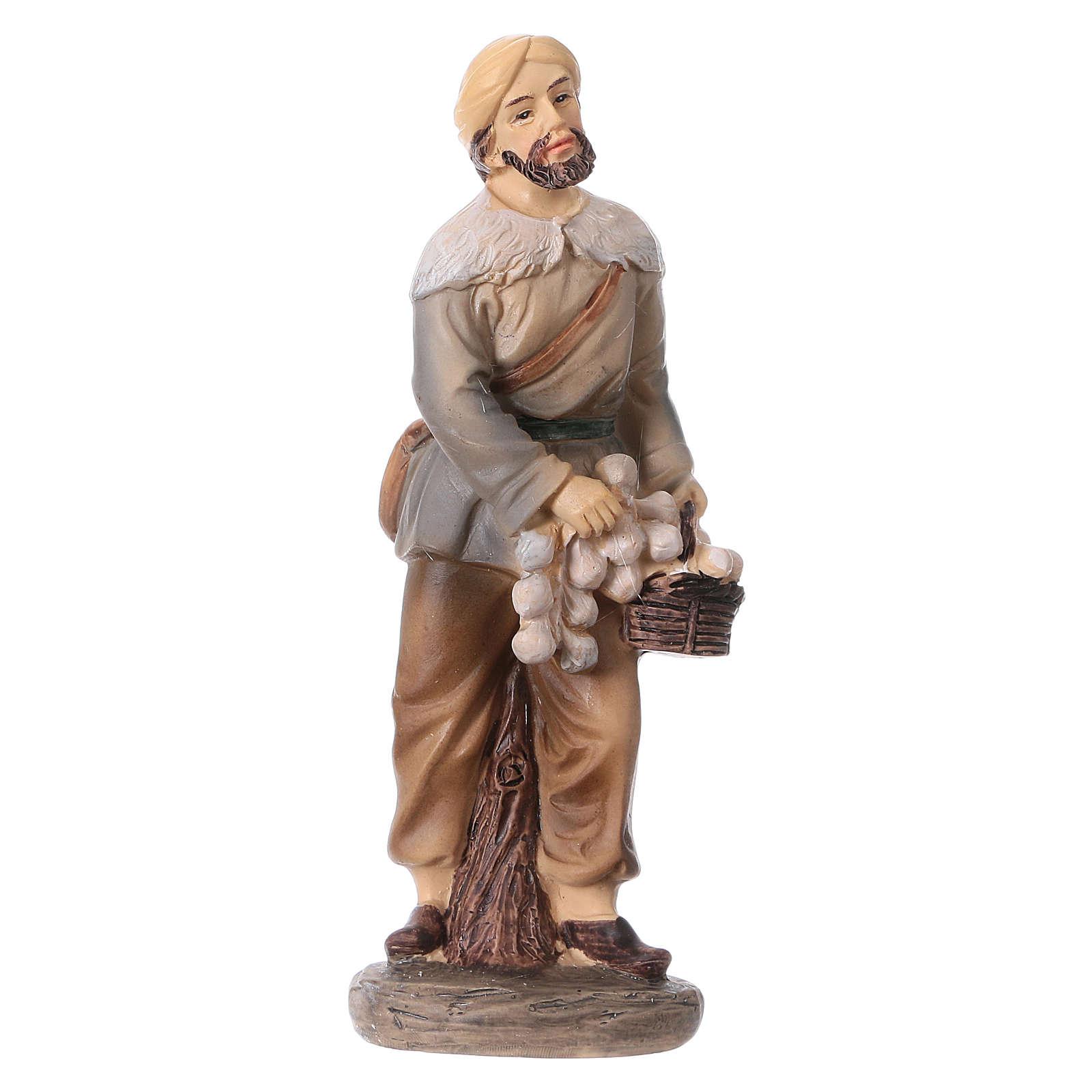 3 shepherds set in resin, for 15 cm kids nativity set 3