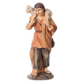 3 shepherds set in resin, for 15 cm kids nativity set s2