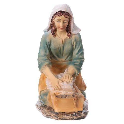 Laundress in resin for Nativity scene 15 cm children's line 1