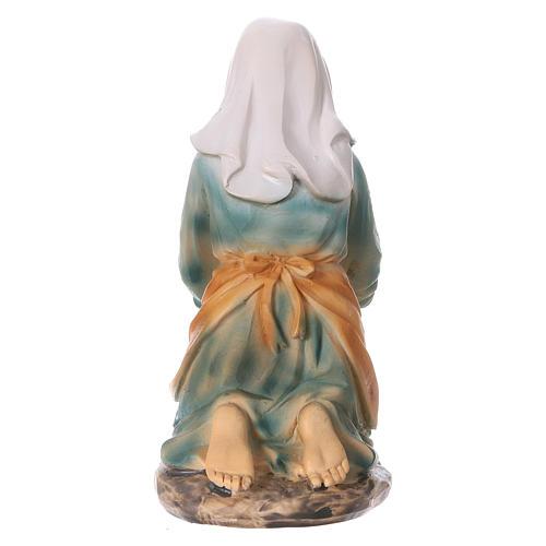 Laundress in resin for Nativity scene 15 cm children's line 4