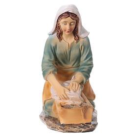 Laundress in resin, for 15 cm kids nativity set s1