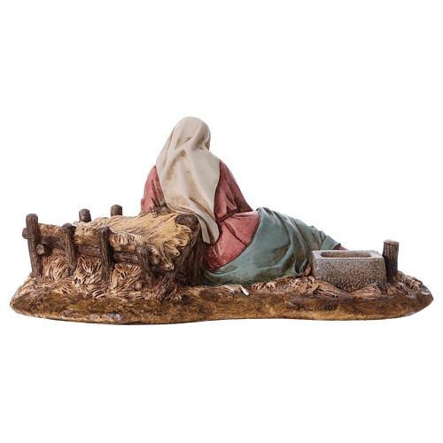 Vierge allongée avec Enfant Jésus Moranduzzo résine 15 cm 4